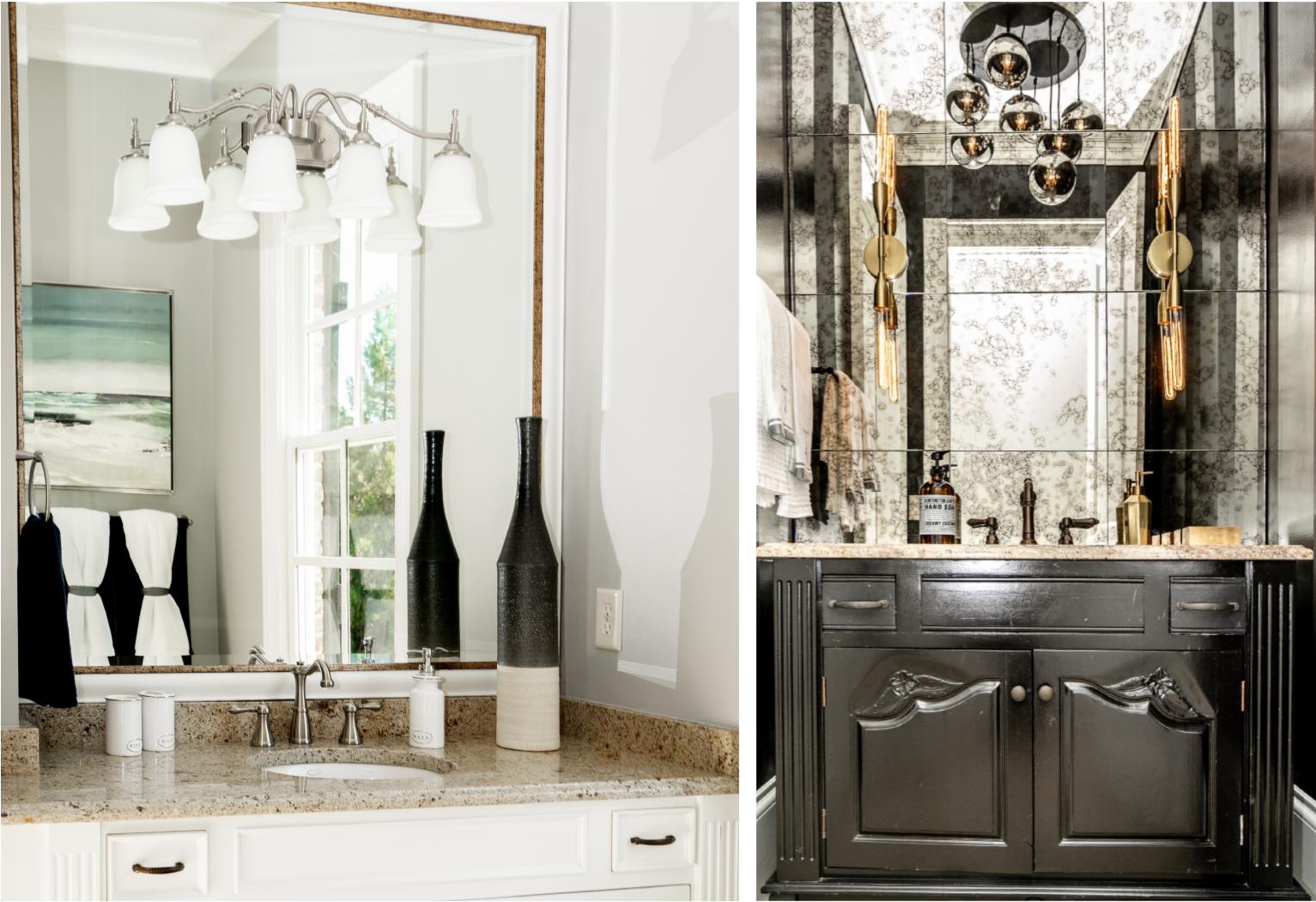 Powder Bathroom Collage